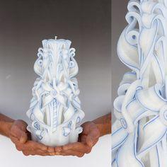 Unity candle - Large candle -  Carved candle - Wedding candle. $36,00, via Etsy.