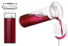 Forget re-corking wine bottles.  Keep it fresh for a week in this Savino carafe