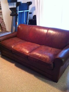 Fiebing's Leather Dye in Med. Brown. how to dye a leather sofa.