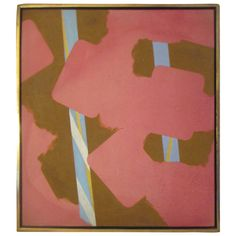 Pink Abstract Painting, Richard Hennessy, 1969 | From a unique collection of antique and modern paintings at https://www.1stdibs.com/furniture/wall-decorations/paintings/