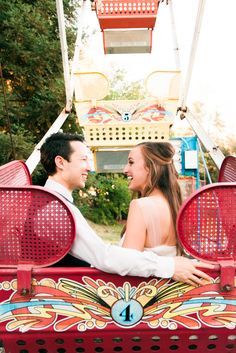 Photo inspiration - fun wedding - unique - ferris wheel - carnival - bride and groom - wedding - photo by Cole Garrett Photography - Planning: DB Creativity