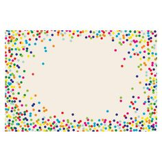 Celebration Confetti Paper Placemats