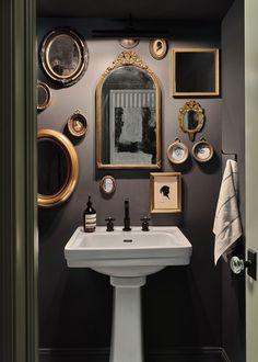 Brooklyn Brownstone, Brownstone Homes, New York Brownstone, Home Interior, Bathroom Interior, Interior Decorating, Interior Colors, Interior Plants, Interior Modern