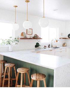 marble kitchen #home #kitchendesign