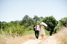 wedding umbrella - Read more on One Fab Day: http://onefabday.com/dna-photographers-outdoor-wedding/