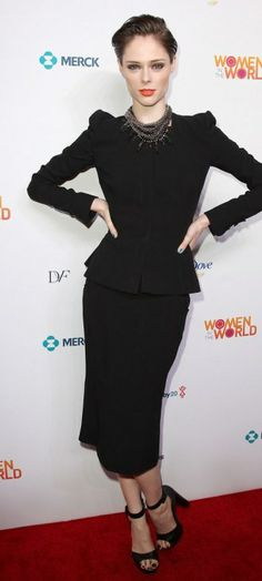 Coco Rocha Hit the Red Carpet for Women In The World Summit 2014!