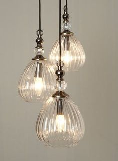 Mirielle 3 light Cluster - Ceiling Lights - Home, Lighting & Furniture - BHS Luxury Chandelier, Luxury Lighting, Home Lighting, Pendant Lighting, Lighting Stores, Bhs Lighting, Mini Pendant Lights, Pendant Chandelier, Light Pendant