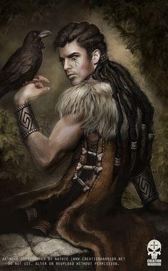 Eldred with Raven by nathie.deviantart.com on @deviantART
