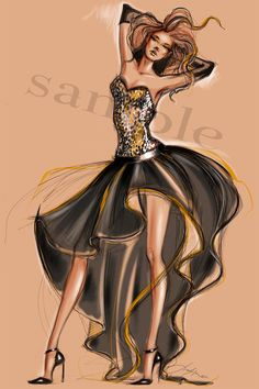 Fashion illustration inspired by designer's by JulijaLubgane