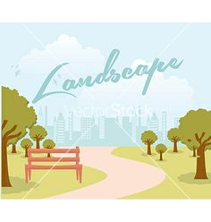 Park Landscape by Giuseppe_R on VectorStock®