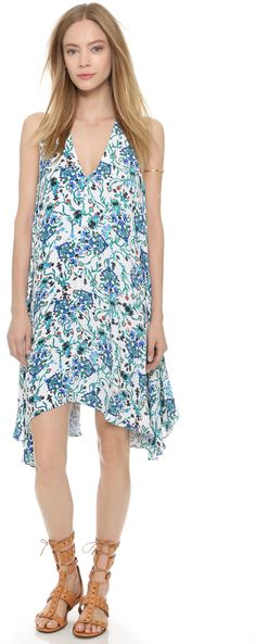 Rachel Zoe Flora V Neck Side Godet Dress