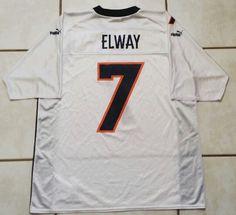fd82ccf39 Vintage PUMA Denver Broncos John Elway NFL Jersey