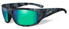 Wiley X Omega Polorized Sunglass - Emerald Mirror(Amber)/Kryptek Neptune Oakley Sunglasses, Mirrored Sunglasses, Omega, Eyeglasses, Eyewear, Backpacks, Mirror Mirror, Emerald Green