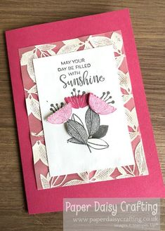 Paper Daisy Crafting: Celebrate with Flowers Card No 3 Paper Daisy, Thank You Gifts, Stampin Up Cards, Stuff To Do, Handmade Cards, I Card, Card Stock, Give It To Me, Happy Birthday