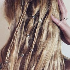 Silver Hair Bead Clickers
