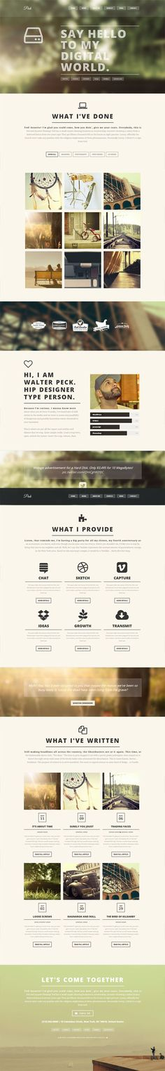 PECK - Creative One Page WordPress Theme Tendances Very nice overall design. Nice and simple.