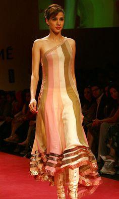 Manish Malhotra #stripes #anarkali #pastels #bridal