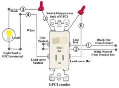 how to wire switches combination switch outlet light fixture turn rh pinterest com wiring gfci switch outlet combo install outlet switch combination