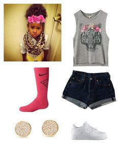 """""""Hey its layla"""" by queen-miy ❤ liked on Polyvore featuring NIKE and Gorjana"""