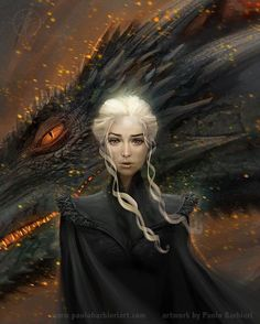 """Mi piace"": 5,131, commenti: 7 - Game Of Thrones (@gamee.of.thrones) su Instagram: ""#DaenerysTargaryen artwork by Paolo Barbieri! """