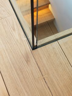 glass balustrade inset into wooden flooring Staircase Handrail, Stair Railing, Railings, Staircases, Detail Architecture, Interior Architecture, Interior Stairs, Interior And Exterior, Glass Balustrade