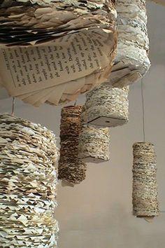 Susan Benarcik Creates beautiful sculptures out of re-cycled paper.