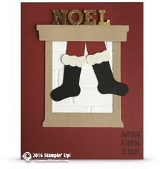 CARD: Santa coming down the chimney from Hang Your Stockings