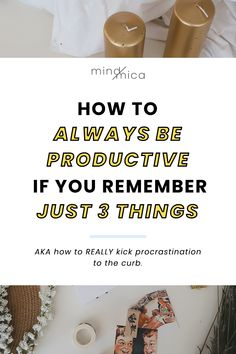 When you're struggling to be more productive after a bad day or week, remember these three things to help get you back on the wagon. Use this to remember why you can be productive every day. Office Hacks, Productivity Hacks, Passion Project, Always Be, Setting Goals, 3 Things, Getting Things Done, Time Management, You Got This