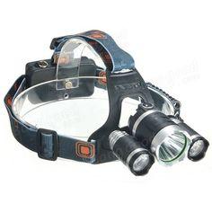 5000Lm 3 x XM-L T6 LED Bike Cycling Headlight Headlamp Head Light 18650 Charger - US$26.99