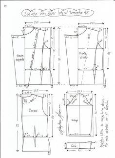 Patrón para confeccionar unachaqueta clásica que nuncapasa de moda. Tallas desde la 36 hasta 56.