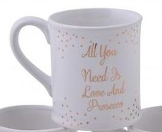 Mug: Ceramic Love & Prosecco - Gold