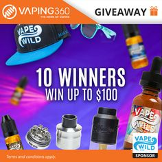 5 x $100 / 5 x $50 Vape Wild Coupon Codes Giveaway