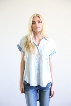 The Chicago Button Up in Bleached Chambray