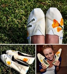 I love this idea of decorating your TOMS to make them your own!