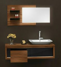 Both functional and stylish, vanity units are an elegant bathroom storage solution, allowing you to stow away all your bathroom essentials. Modern Bathroom Decor, Bathroom Interior Design, Bathroom Styling, Bathroom Furniture, Vanity Design, Sink Design, Bathroom Countertop Design, Bathroom Cabinets, Wash Basin Cabinet