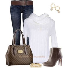 """""""Louis Vuitton & Ralph Lauren Sweater"""" by casuality on Polyvore"""