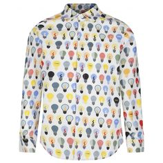 85753c91b Fendi Boys White Shirt with Mulicoloured Print Boys Long Sleeve, Boys,  Printed , @ Chocolate - Luxury childrenswear for all occasions!