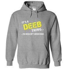 Its a DEEB Thing - #sister gift #small gift. HURRY => https://www.sunfrog.com/Christmas/Its-a-DEEB-Thing-SportsGrey-dsct-Hoodie.html?id=60505