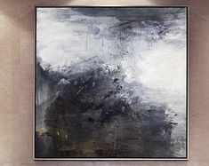 Large original abstract oil painting, Contemporary Art, Hand-painted Large wall Art, decor, Black and white Oil painting, large canvas art #OilPaintingBlackAndWhite