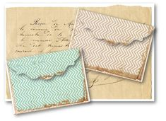 Shabby Chevron Envelopes Collection Write It Down, Collage Sheet, Digital Collage, Chevron, Envelope Templates, Shabby, Printables, College Life