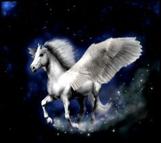Pegasus (Greek Πήγασος/Pegasos, Latin Pegasus) is one of the best known fantastical creatures in Greek mythology. He is a winged divine horse, usually white in color. He was sired by Poseidon, in h…