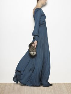 Maxi vestido de gasa fluído | Hoss Intropia Spain