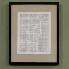 Chicago City Print 11x14, $28, now featured on Fab. [Karen O'Leary  Maps & Cards Inspired By Cities]