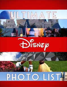 Ultimate Disney Photo List for Walt Disney World takes you beyond Cinderella Castle to make your memories unforgettable! Over a hundred photo ideas.
