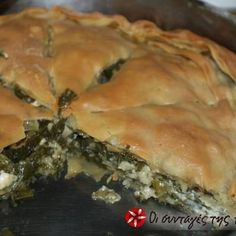 Spinach pie with aromatic herbs Middle Eastern Dishes, Middle Eastern Recipes, Spinach Pie, Aromatic Herbs, Sugar Free Recipes, Spanakopita, Greek Recipes, Family Meals, Appetizers
