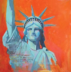 Statue of Liberty, Women's March on Washington, painting, oil on canvas, mary michaela murray I See It, Stand By Me, Diy Art, Statue Of Liberty, Oil On Canvas, Mary, Princess Zelda, Washington, Paintings