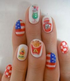nail art designs pictures of fourth july