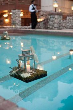 21 Wedding Pool Party Decoration Ideas For Your Backyard Wedding DIY Pool And Backyard Decorating IdeasDIY Pool And Backyard Decorating Ideas Poolside Should Haves Furnishings Decor The Cameron Poolside Should-Haves Floating Pool Decorations, Backyard Wedding Decorations, Pool Party Decorations, Decoration Party, Floating Lanterns, Backyard Wedding Pool, Outdoor Pool, Floating Flowers, Diy Pool