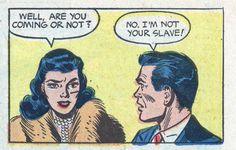 "Comic Boy's Say.. ""I'm not your slave"" #comic #popart #vintage"