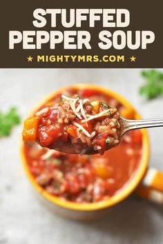 Best Soup Recipes, Chowder Recipes, Healthy Soup Recipes, Chili Recipes, Dinner Recipes, Popular Recipes, Easy Recipes, Favorite Recipes, Stuffed Peppers Healthy